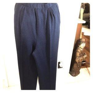 StJohn Collection Dark Navy Santana knit pants 10